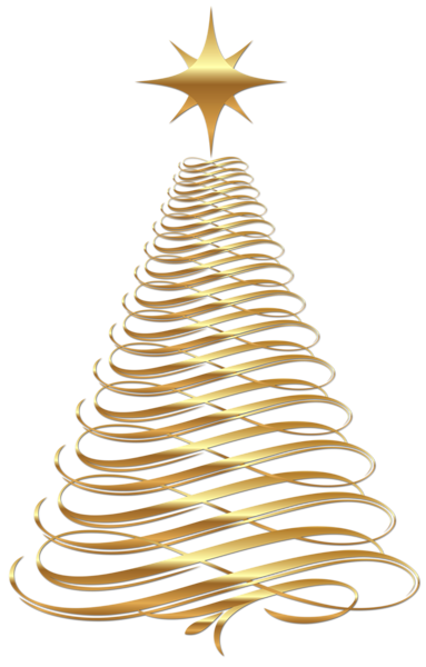 Gold christmas ornaments png. Large transparent tree clipart