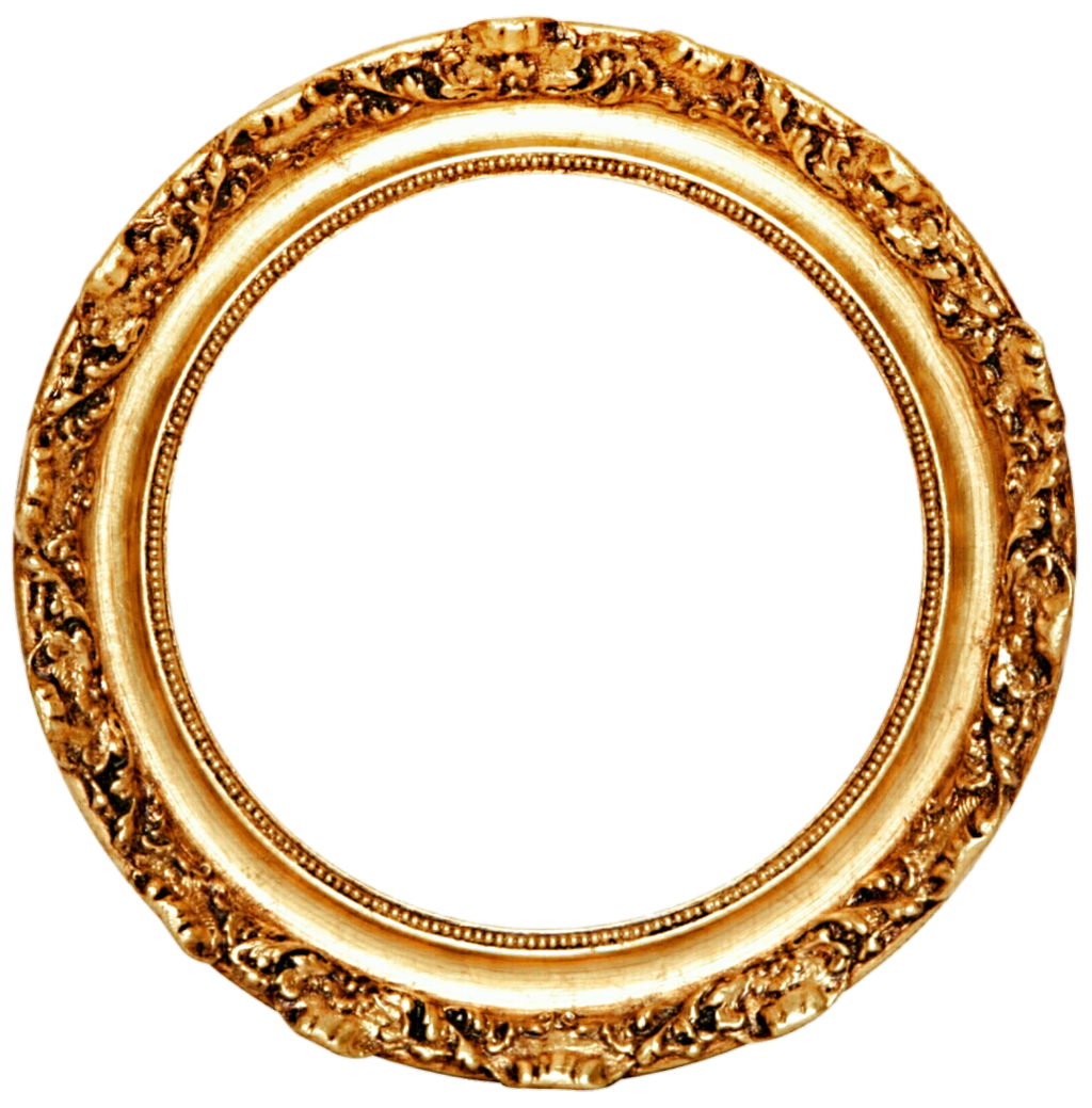 Gold circle frame png. Golden images transparent free