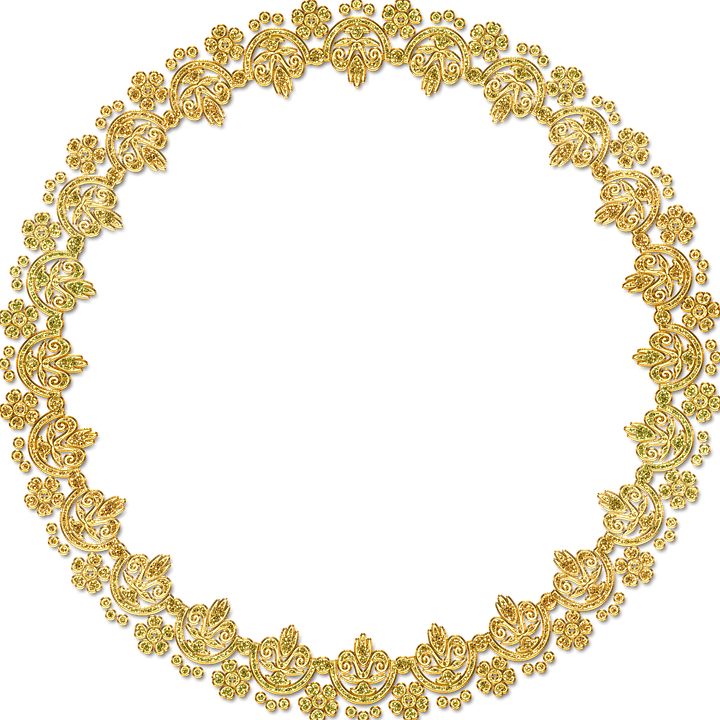 Gold circle frame png. Golden round hd mart
