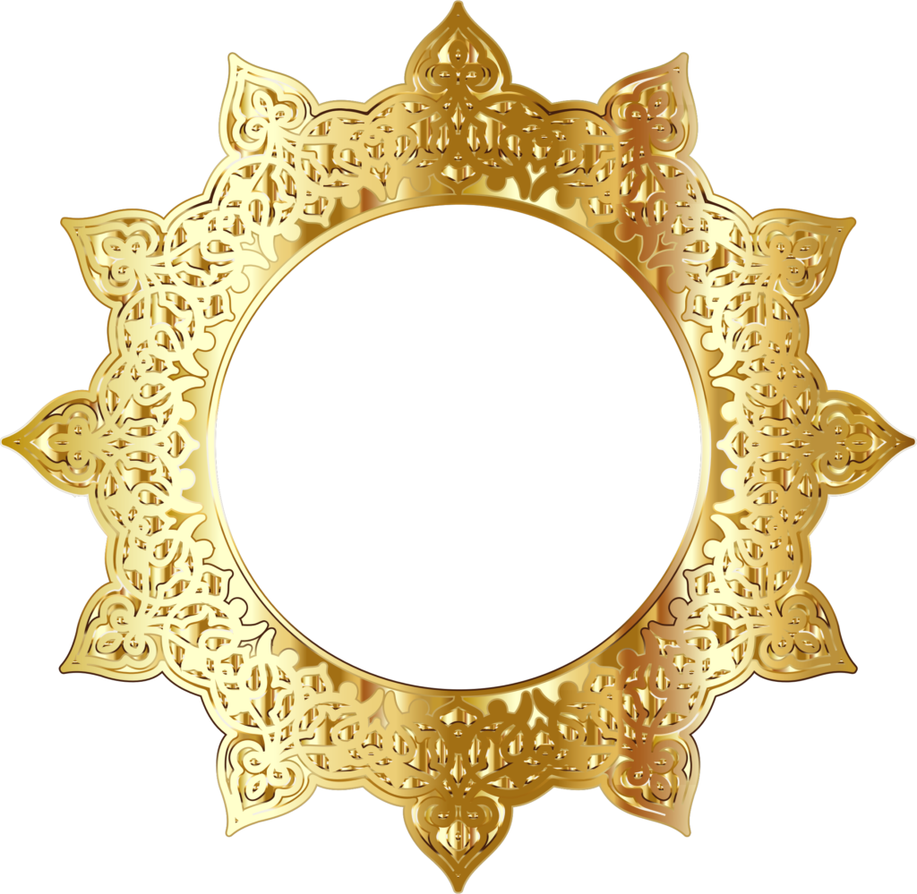 Gold circle frame png. Golden round picture peoplepng