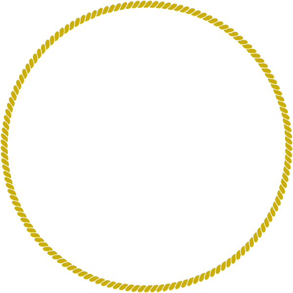 Gold circle png. Rope clip art at