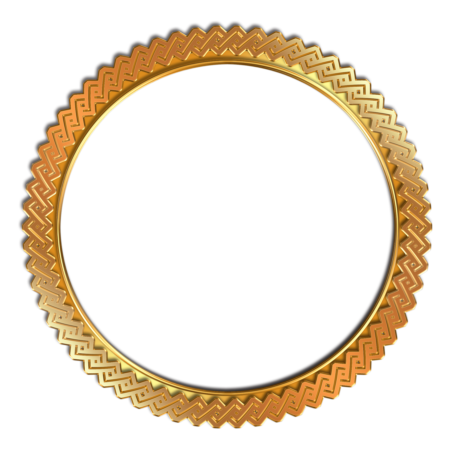 Gold circle png. Vintage photo frame transparent