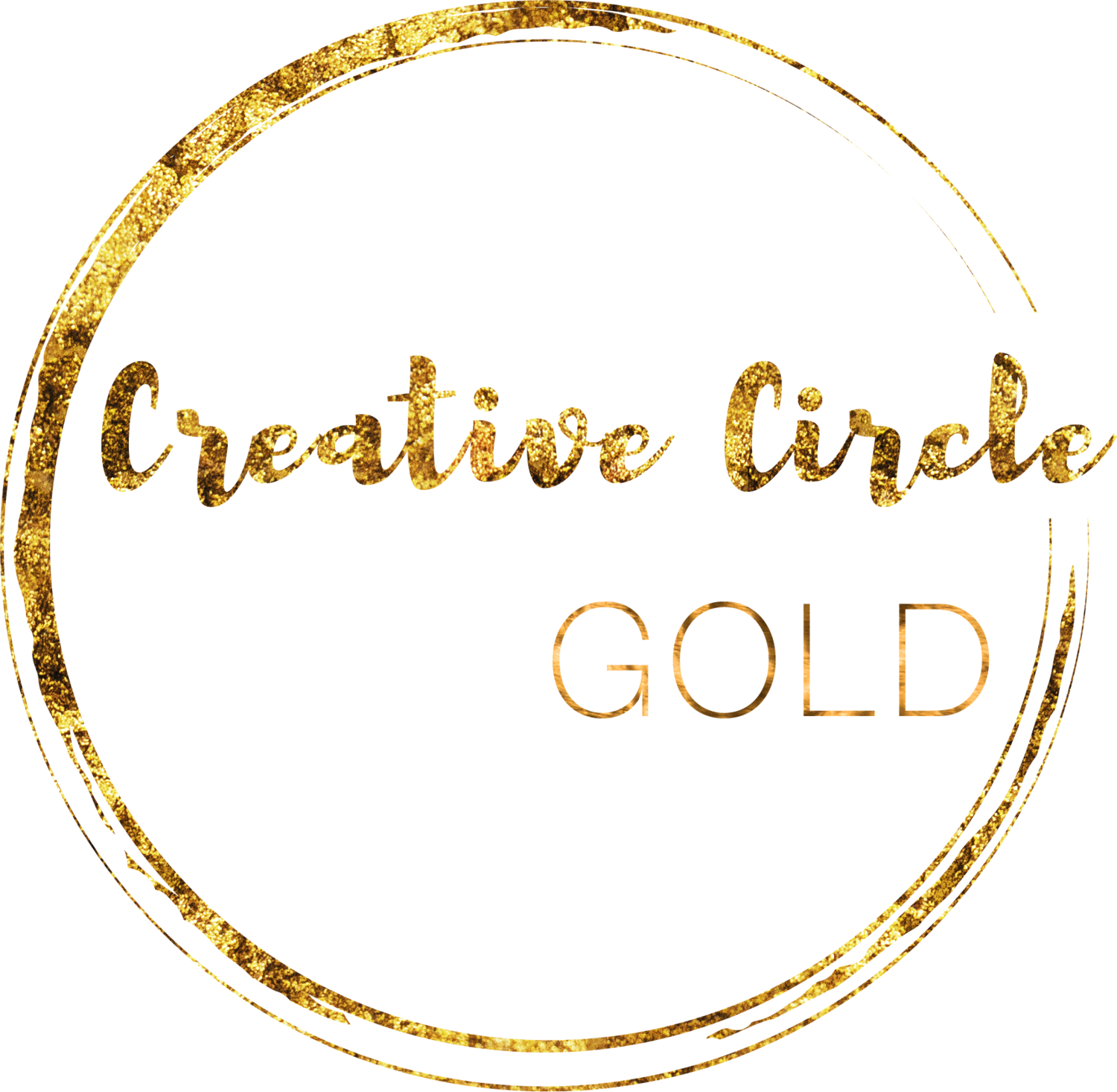 Gold circle png. Creative