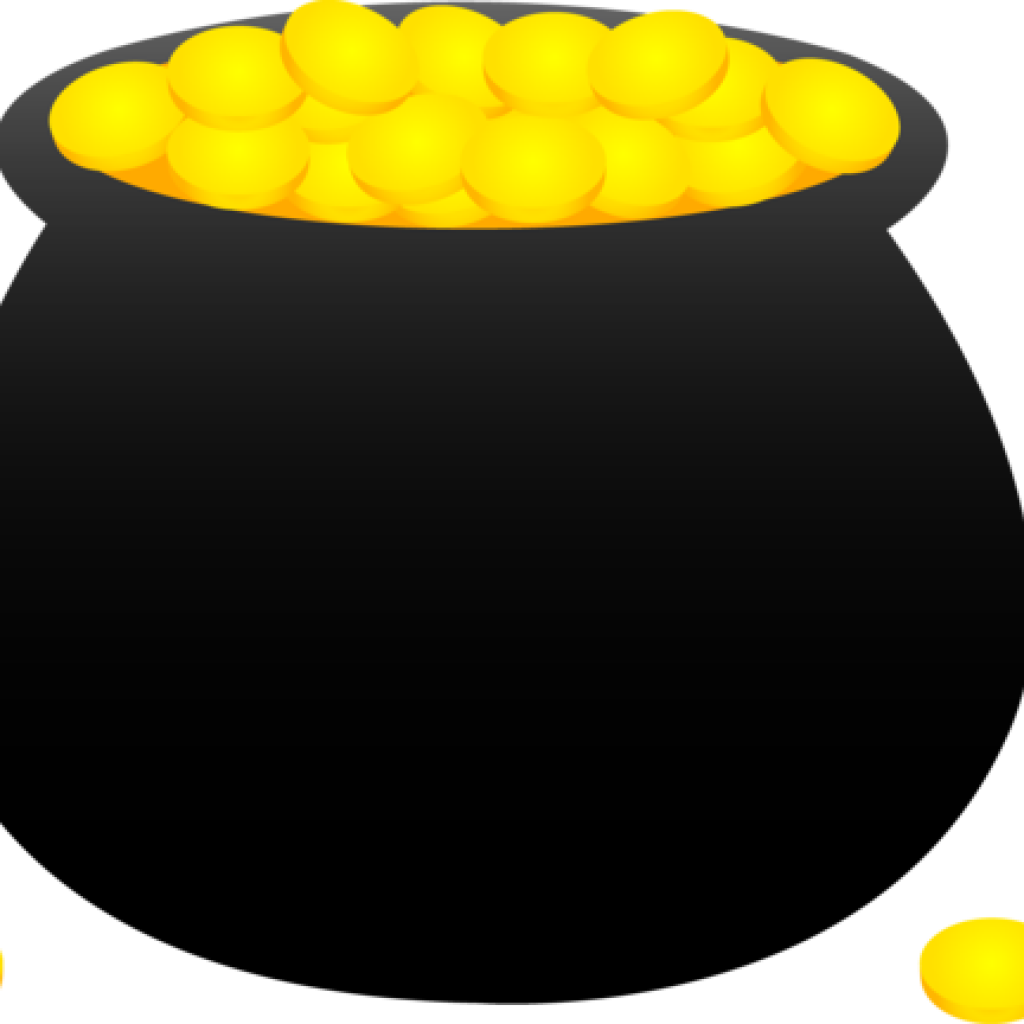Pot of clip art. Gold clipart graphic royalty free