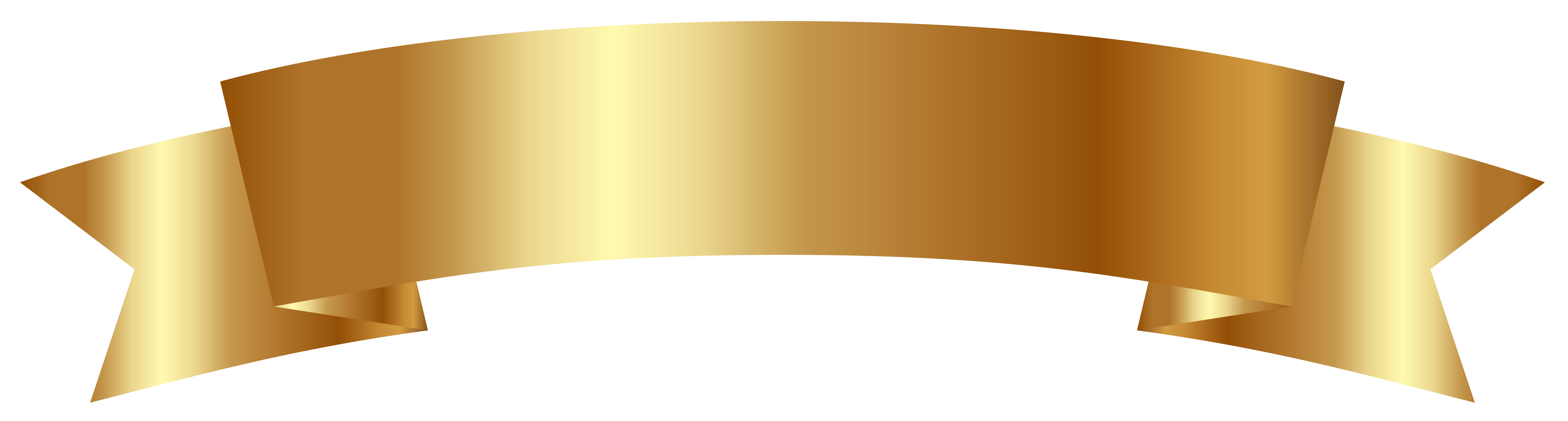 Gold ribbon png. Banner clipart image gallery