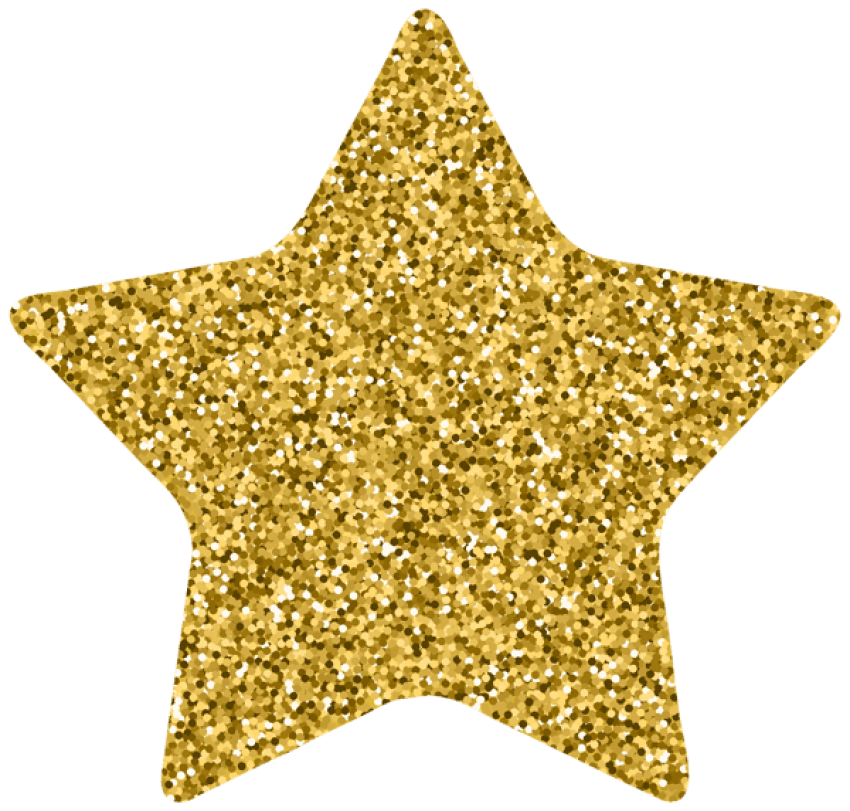 Gold clipart. Download star decor png