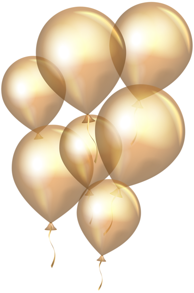 gold clipart balloon