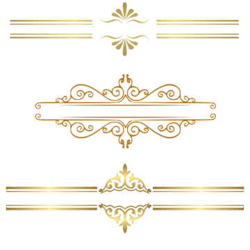 Gold border png. Images vectors and psd