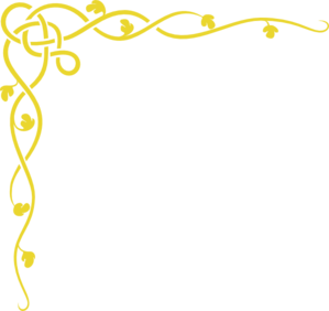 Gold border design png. Free clipart