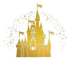 gold clipart castle