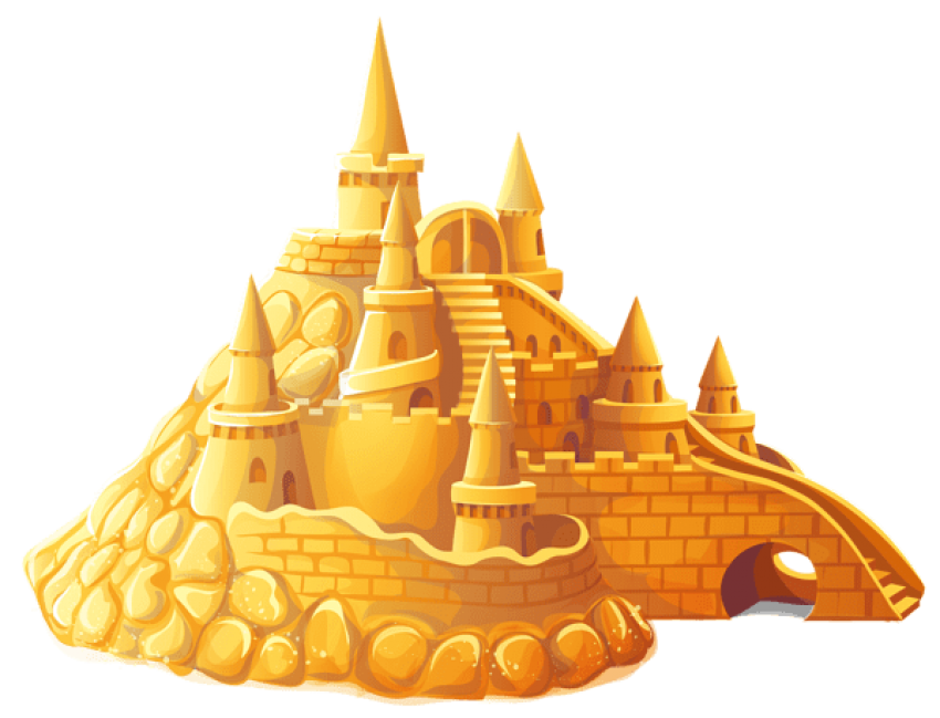 Sandcastle clipart golden. Download transparent sand castle