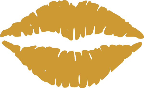 Gold lips png. Clipart clip art at