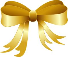 Gold clipart clip art. Christmas red bow png