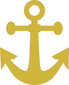 Anchor at clker com. Gold clipart clip art png library download