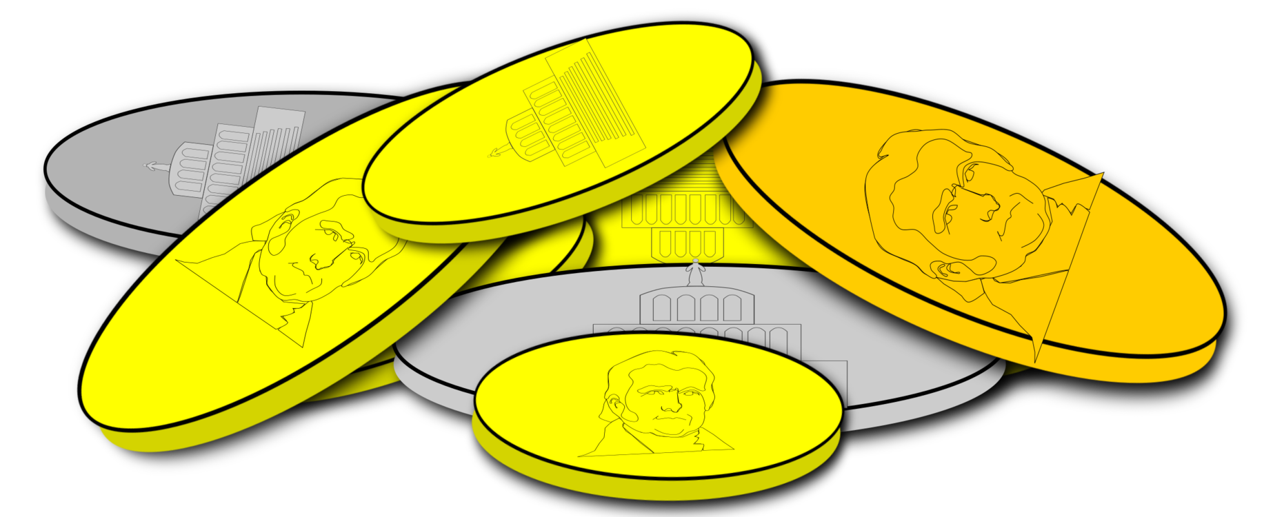 Gold clipart gold silver. Coin free commercial