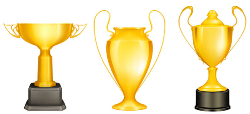 Download transparent bronze trophies. Gold clipart gold silver clip black and white library