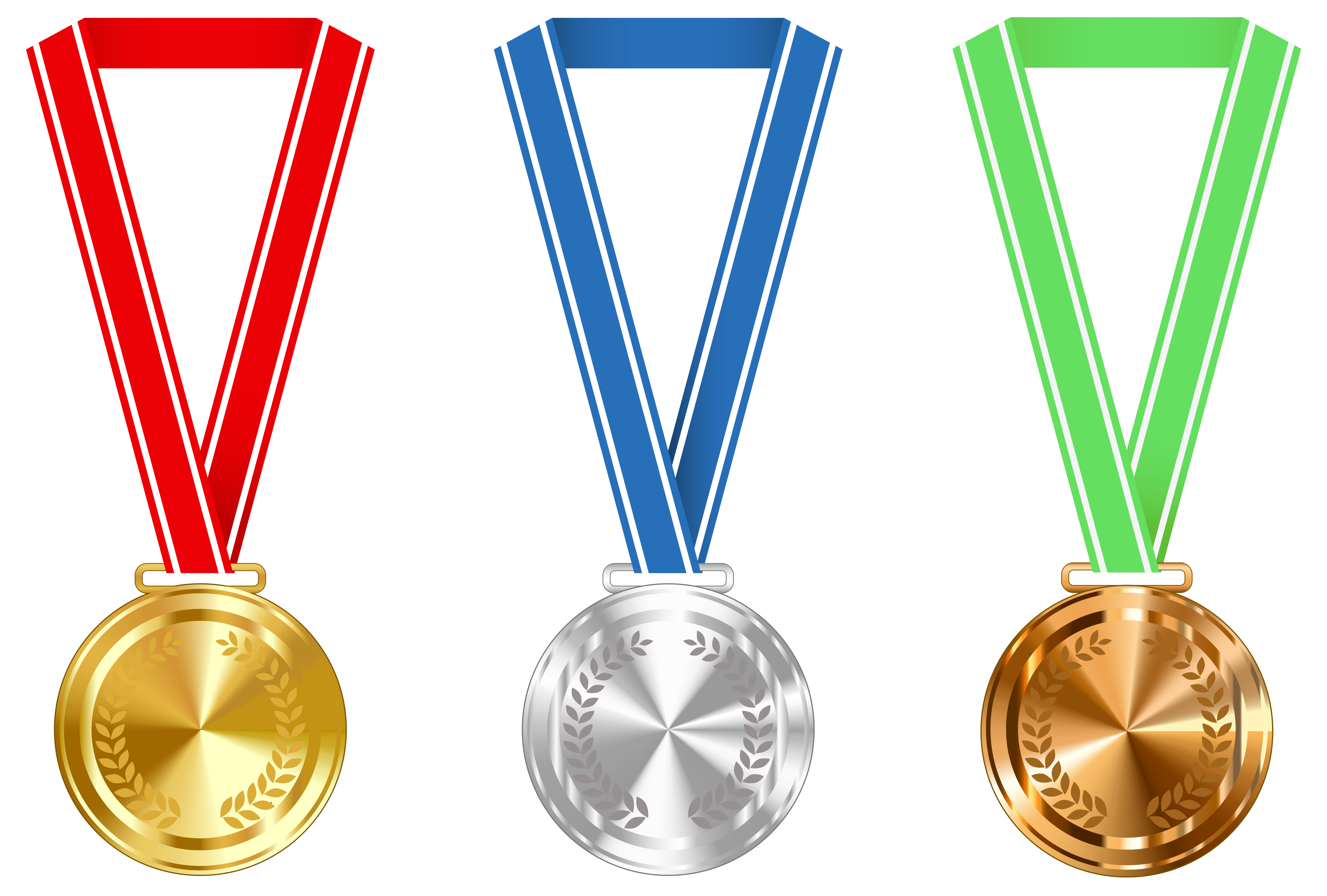 Medal clipart school medal. Gold silver and bronze