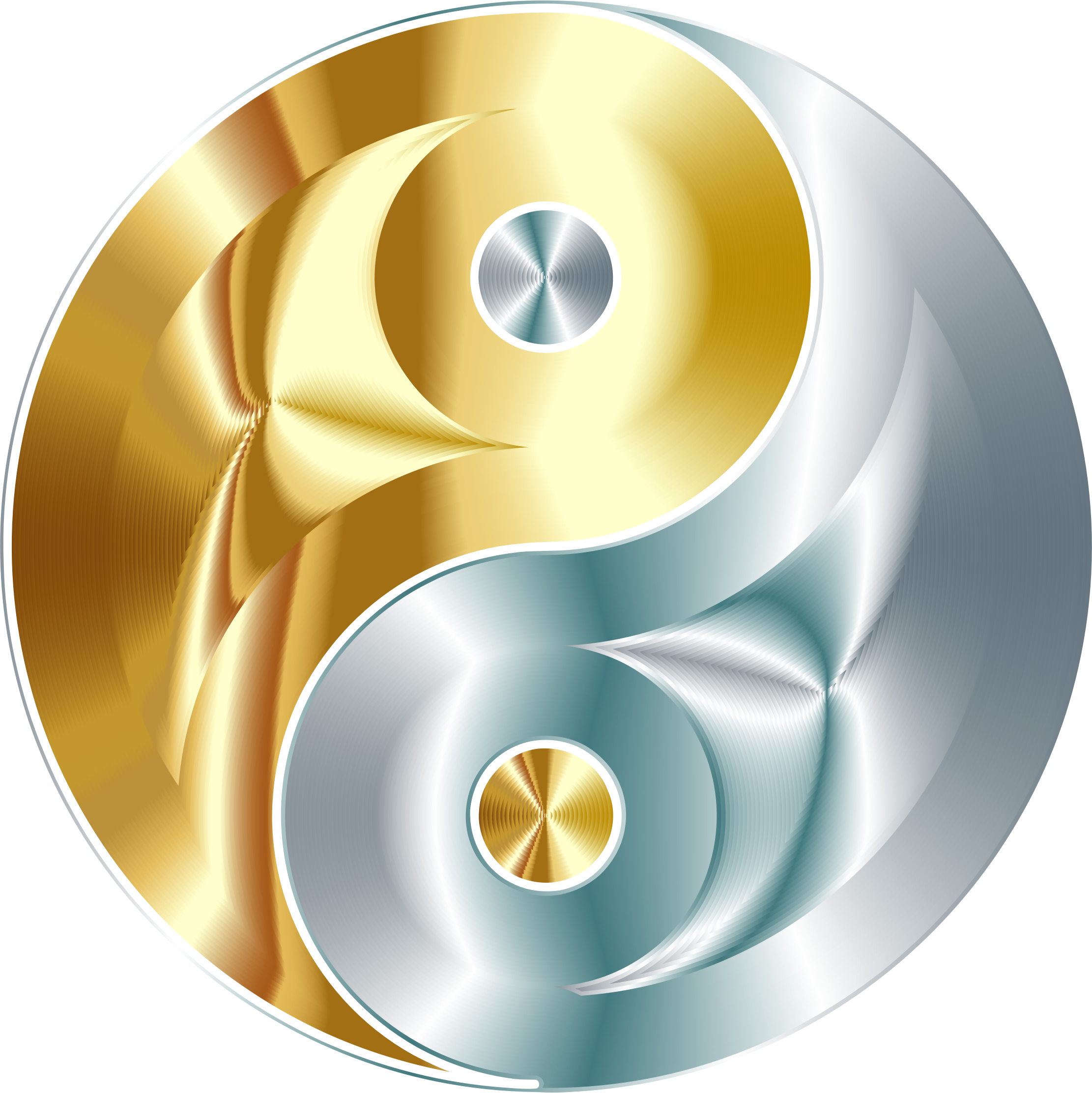 And yin yang no. Gold clipart gold silver graphic royalty free