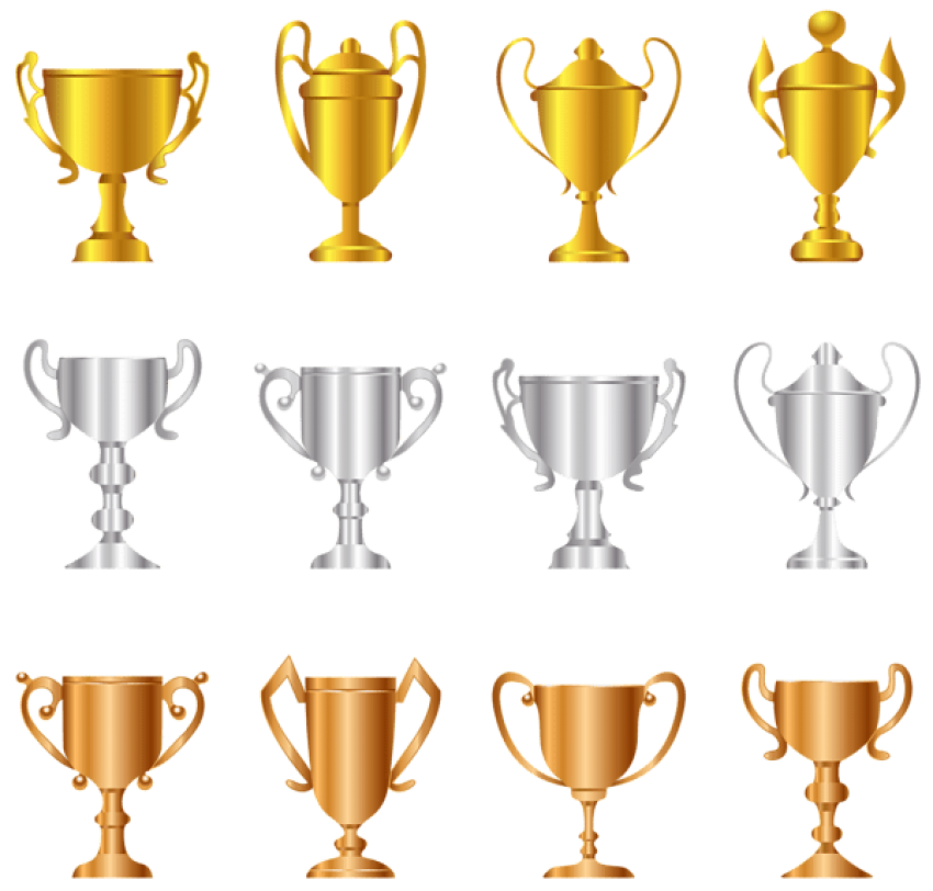 Download transparent bronze trophies. Gold clipart gold silver free library