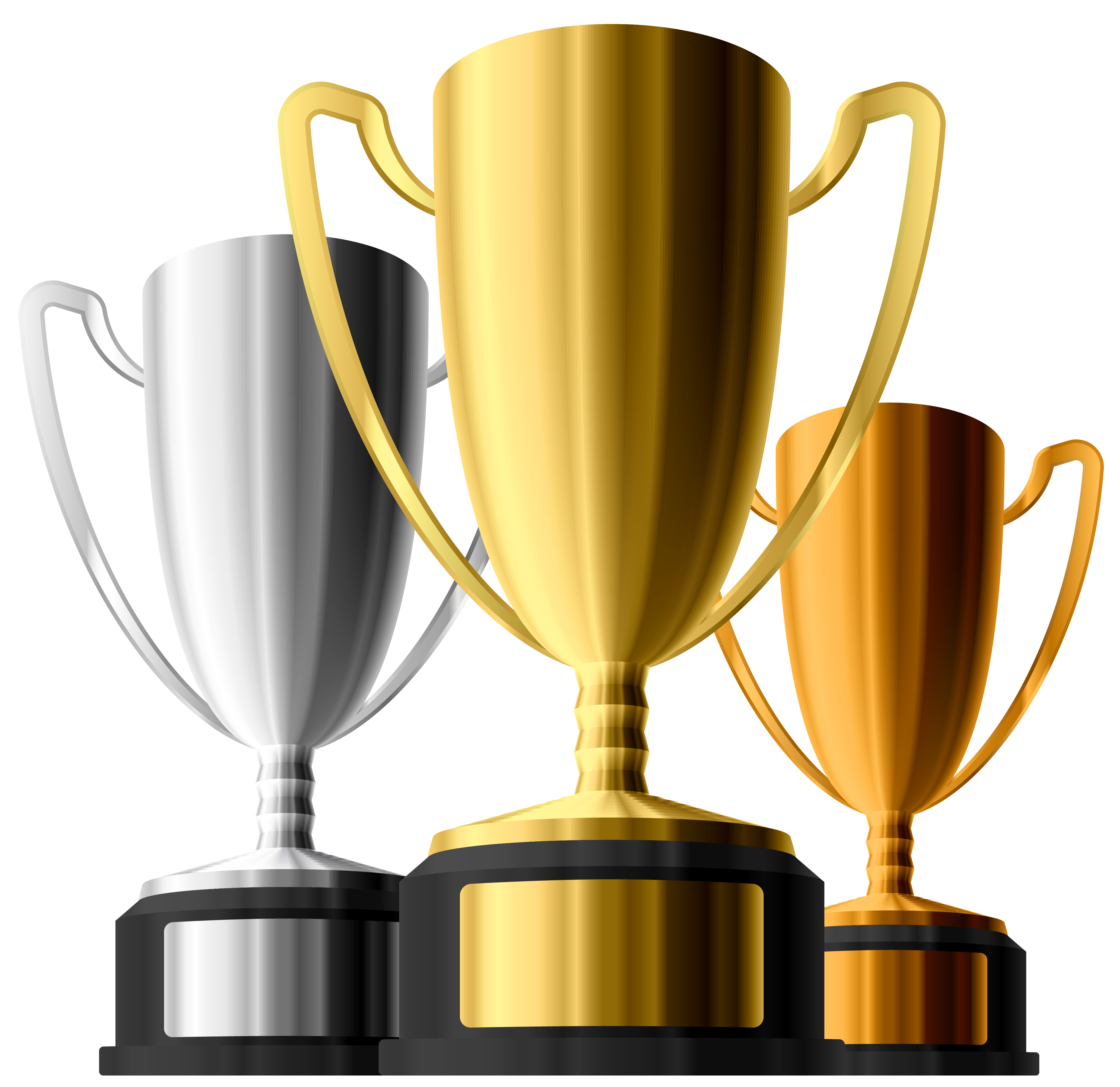 Gold clipart gold silver. Bronze trophies gallery yopriceville