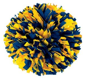 Cosy blue and free. Gold clipart pom poms image