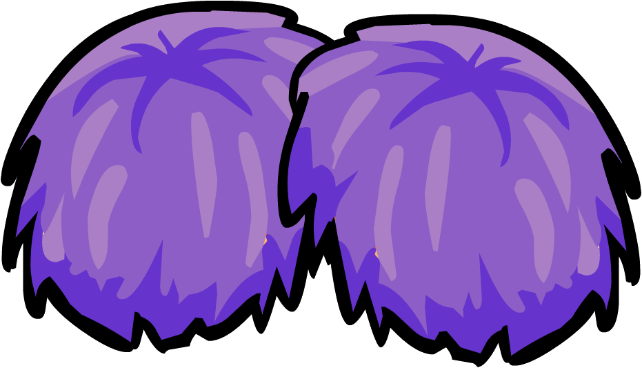 Gold clipart pom poms. Purple