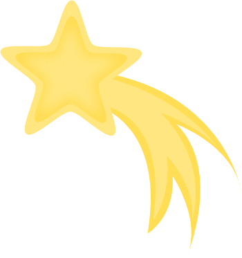 Yellow kb resource yellowshootingstarclipart. Gold clipart shooting star png transparent library