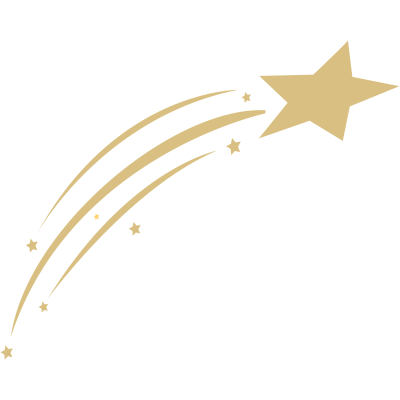 gold clipart shooting star