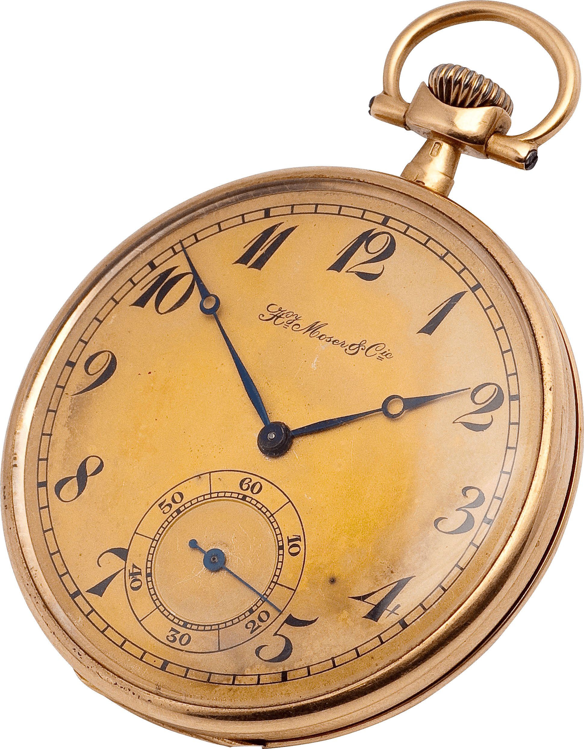 Stopwatch transparent old. Copper gold pocket watch