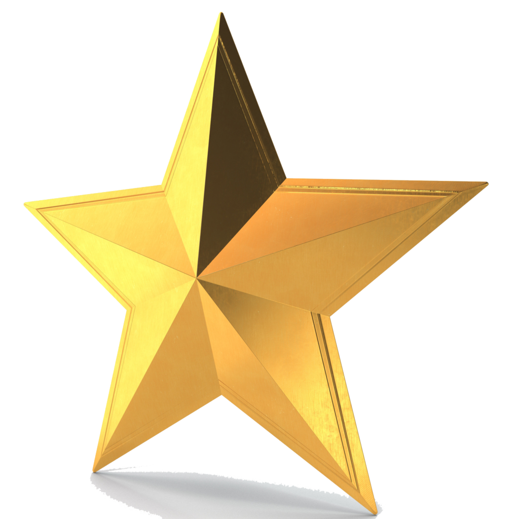 Star png vector. D gold pic