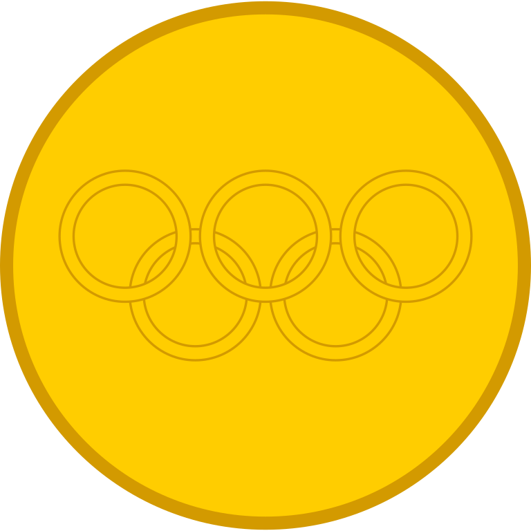 Medal drawing olympics. Gold template april onthemarch