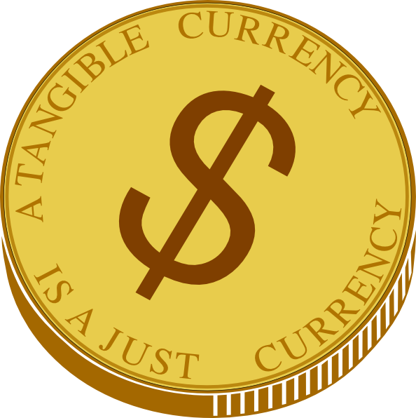Gold coin clip at. Vector coins art graphic freeuse stock