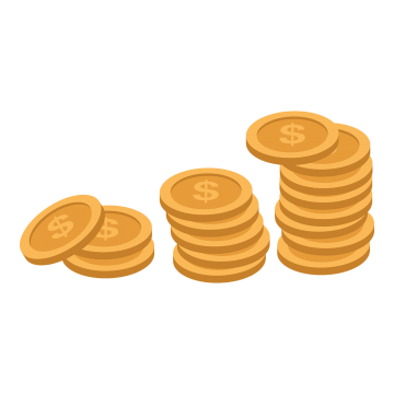 Vector coins name. Metal png images vectors