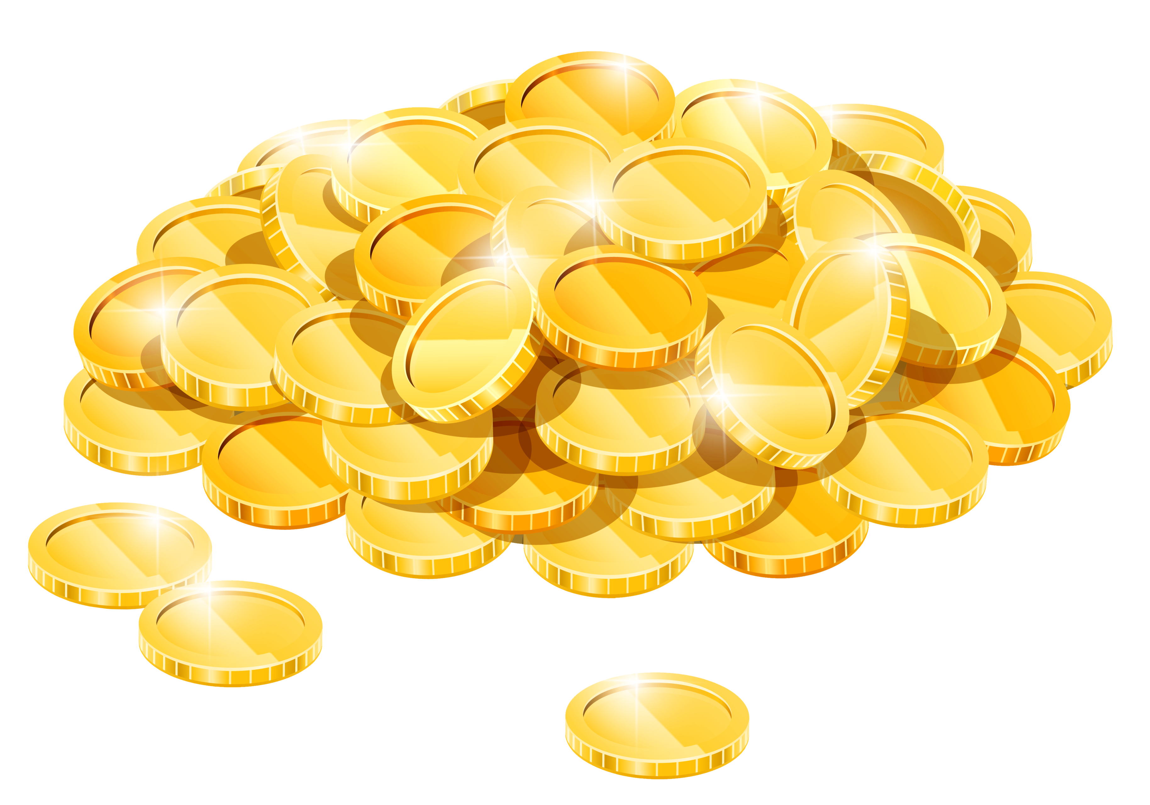 Gold coins clipart png. Image purepng free transparent