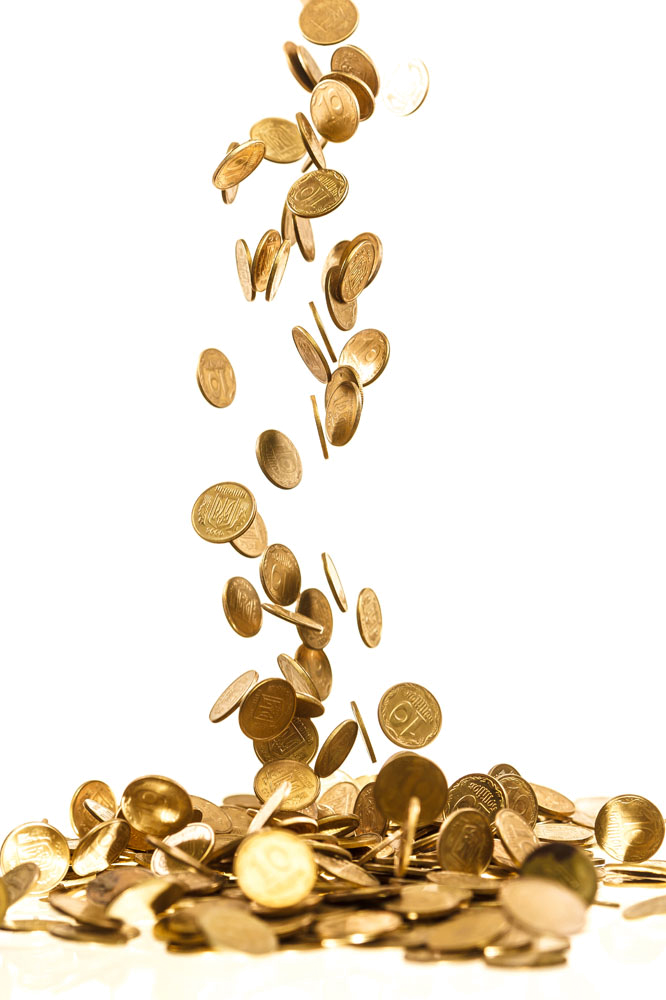 Gold coins falling png. Coin stock photography royalty