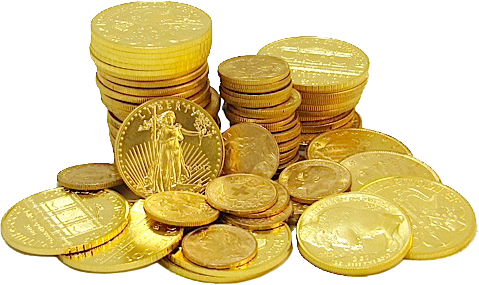 Gold coins png. Image