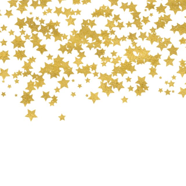 Gold confetti border png. Star and psd file