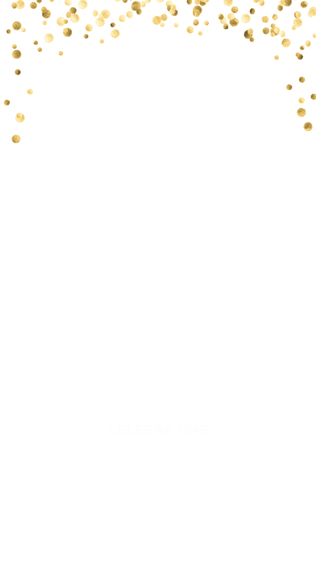 Gold confetti png. Wedding snapchat filter geofilter
