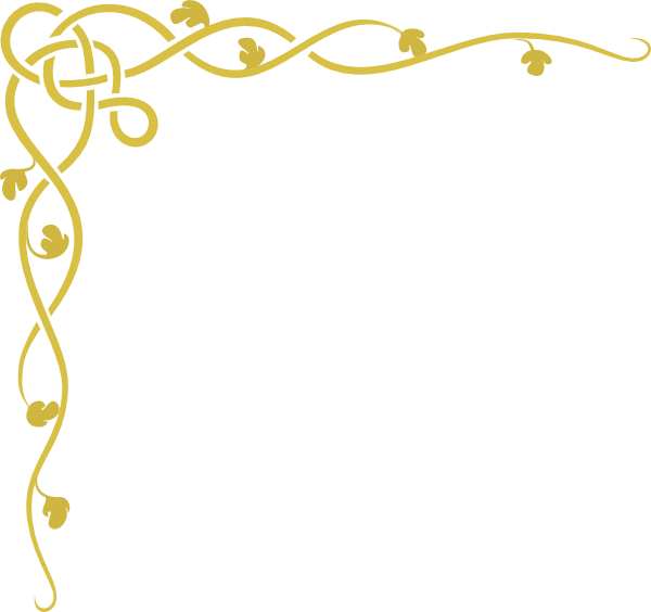 Gold corner border png. Bills scroll clip art