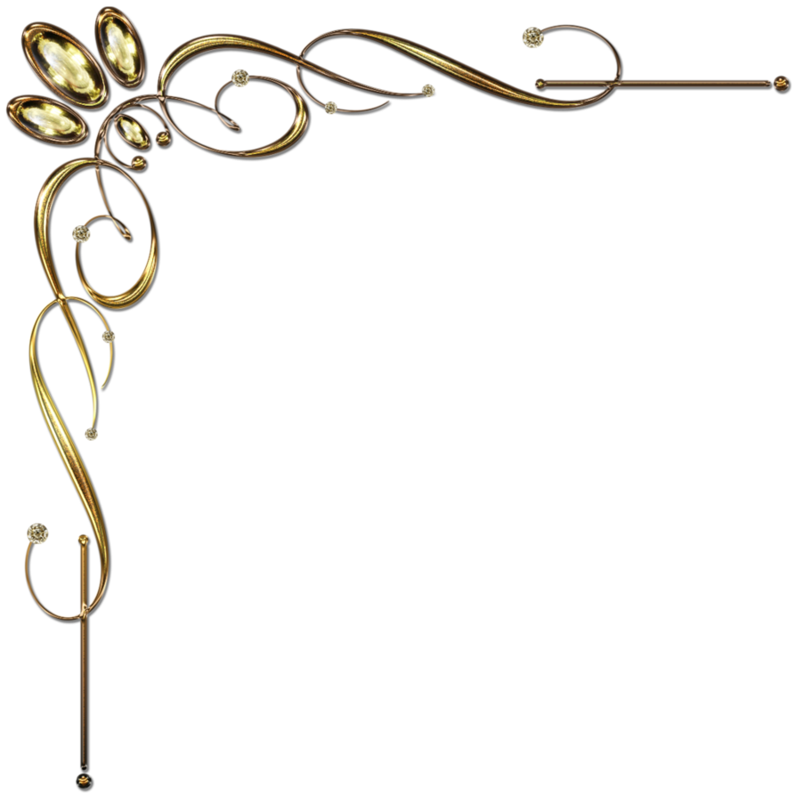 Gold corner border png. Golden ornament by lyotta