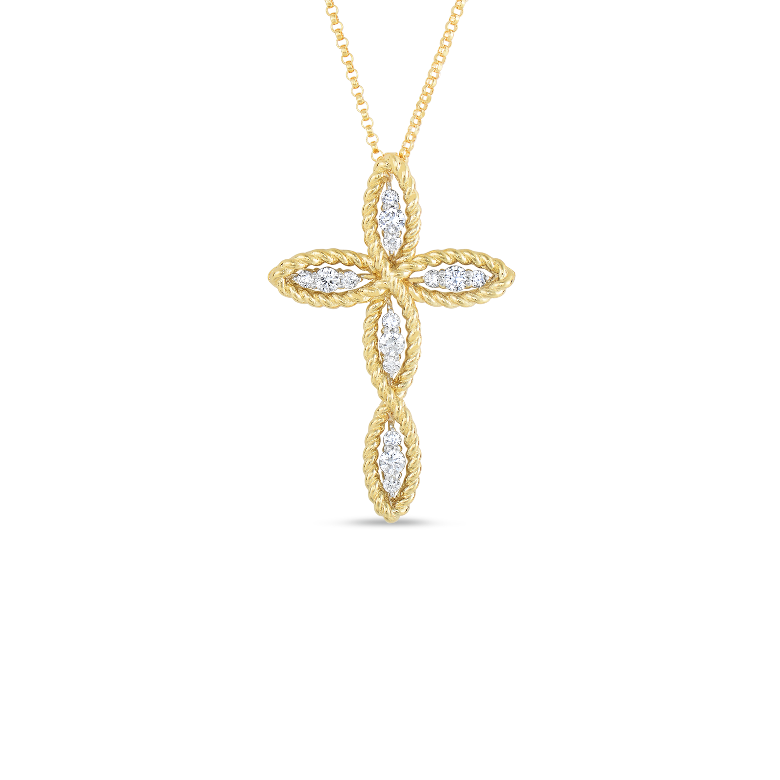 Gold cross necklace png. Buy pendant with diamonds