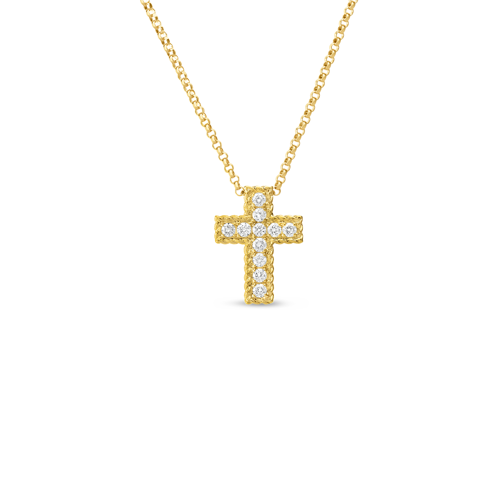 Gold cross necklace png. New barocco diamond dcros