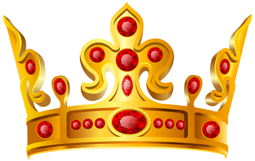 Gold crown keys png. Red stone free images