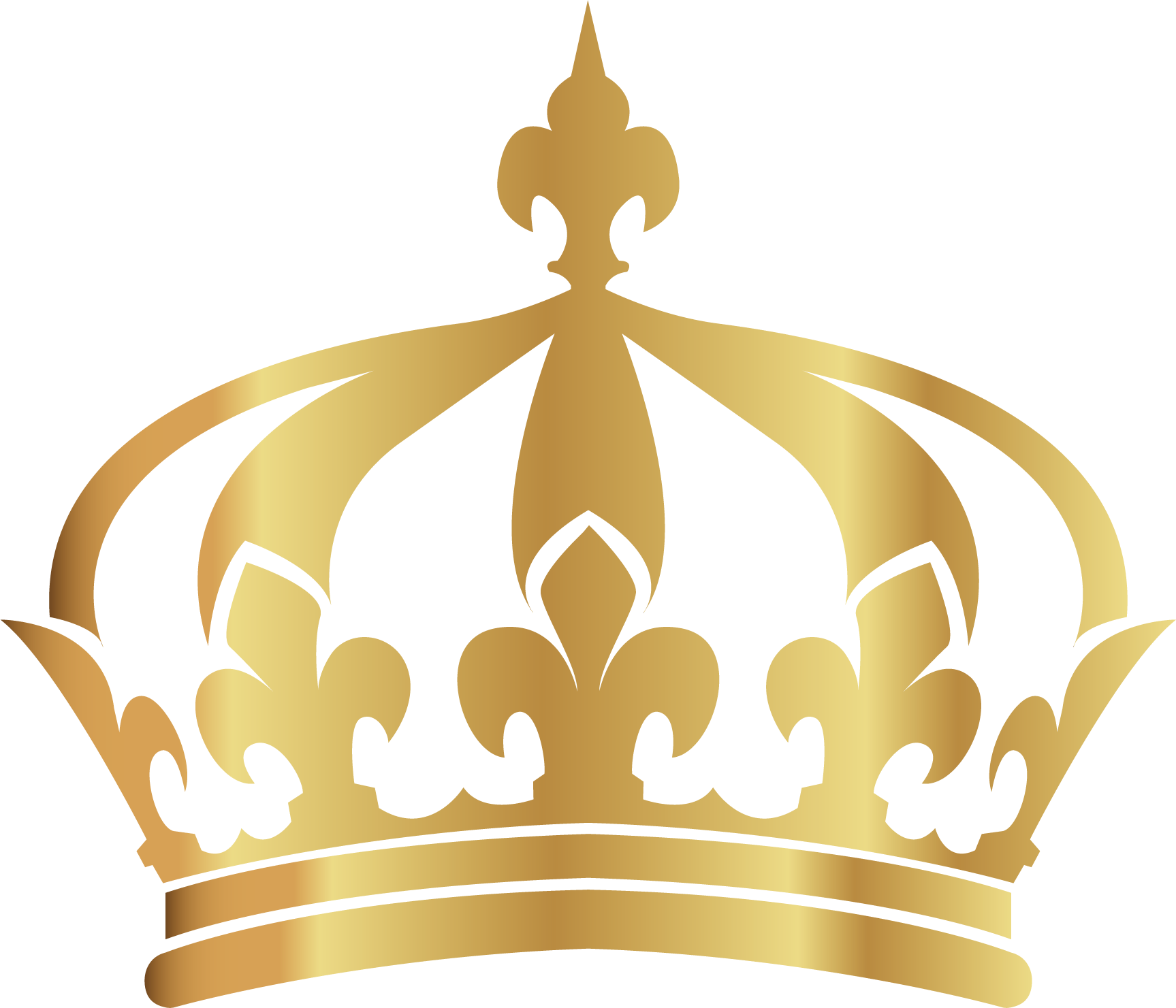 Gold crown vector png. Hand painted transprent free