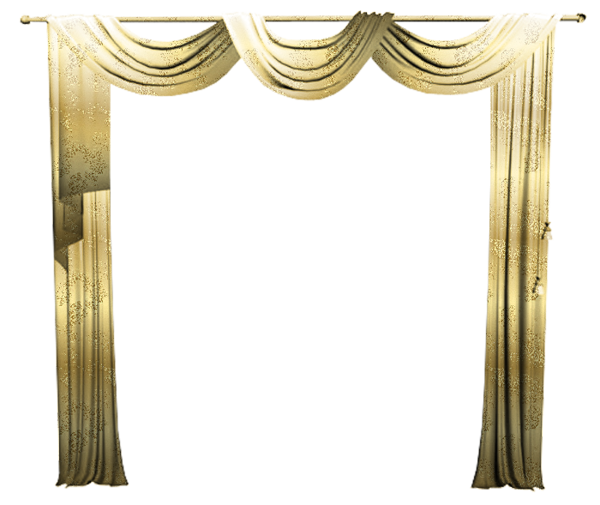 Gold curtain png. Curtains