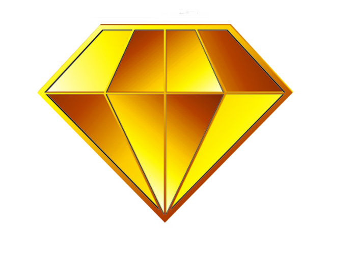 Gold diamond png. Many bricks breaker logo