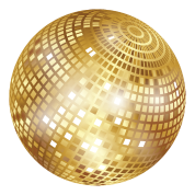 Vector glitter gold pattern. Disco ball png image