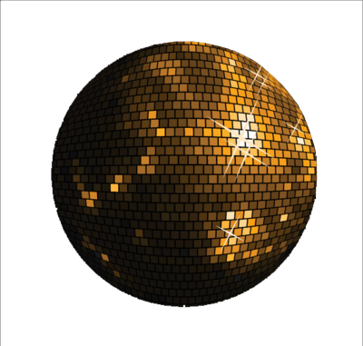 Vector gold disco ball. Browse and download png