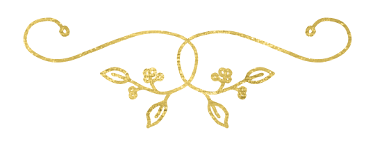 Gold dividers png. Cake creations brand elements