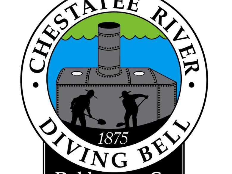 Gold diving bell. The chestatee river official